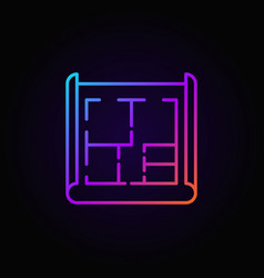 House plan colorful icon vector