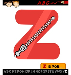 letter z with zipper cartoon vector image vector image