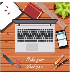 Make your workspace banner2 vector