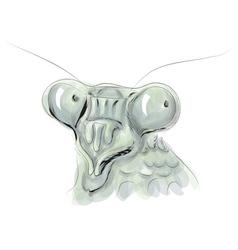 Mantis head vector