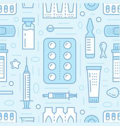 medical drugstore seamless pattern pharmacy vector image vector image