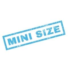 Mini size rubber stamp vector