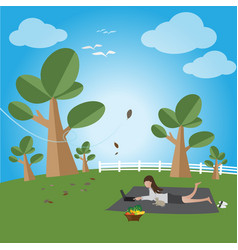 Relax in a free day vector