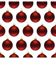 Seamless red christmas balls vector