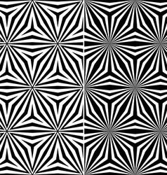Seamless Triangle Elements Pattern vector image