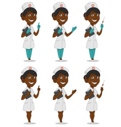 Set of nurses vector