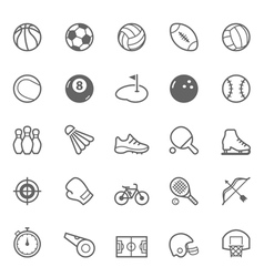 Set of Outline stroke Sport icon vector image