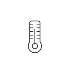 thermometer weather or medicine equipment thin vector image vector image