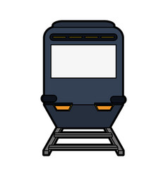 Train or tramway frontview icon image vector