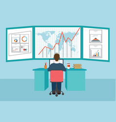 Web analytics information and development vector