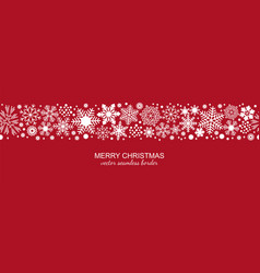 white and red seamless snowflake border christmas vector image vector image