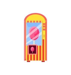 Cotton candy vending machine design vector