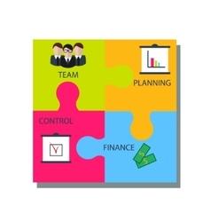 Business puzzle concept vector image