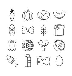 Healty food background representing vector