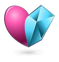 Heart pink blue vector