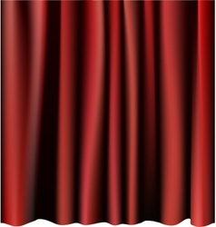 Red curtain for the stage editable meshes vector