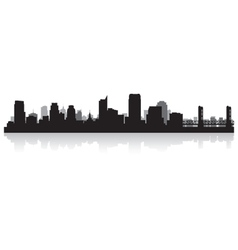 Sacramento USA city skyline silhouette vector image