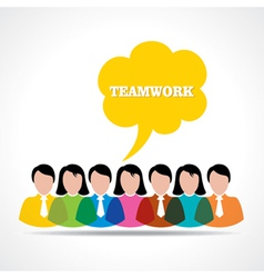 People teamwork concept with message bubble vector