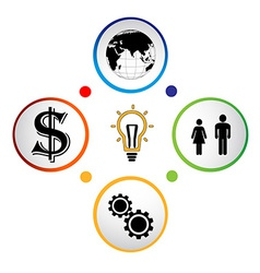 Modern business circle banner vector image