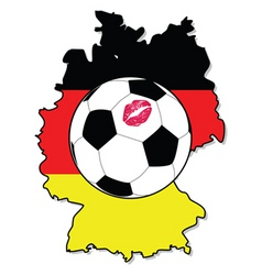 Women soccer in germany vector