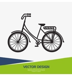 Retro bicycle design vector