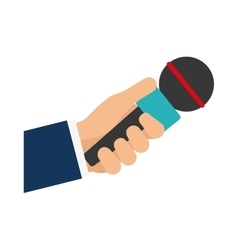 Microphone icon broadcasting design vector