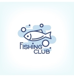 Fish point logo or badge template vector