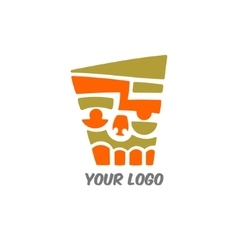 Abstract face logo vector image vector image