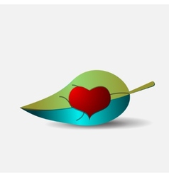 abstract heart icon vector image vector image