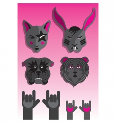 animals rock vector image
