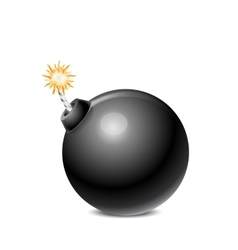 Black Bomb Isolated vector image