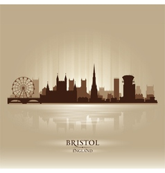 Bristol England skyline city silhouette vector image vector image