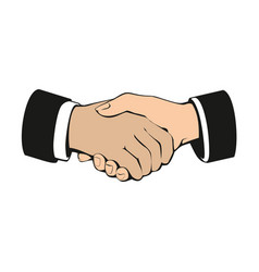 business handshake partnership and teamwork vector image