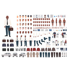 Businessman or office worker creation kit vector