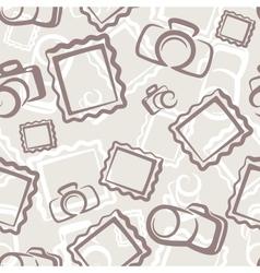 Camera seamless pattern vector image vector image