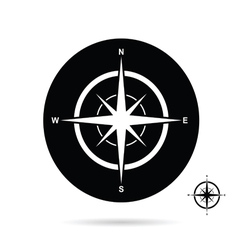 compass icon cartoon vector image vector image