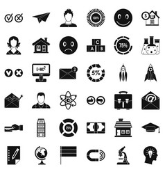 Computer learning icons set simple style vector