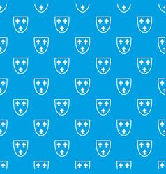 Crest pattern seamless blue vector