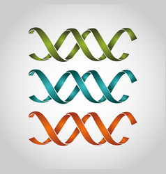 Dna genetic sign icon vector