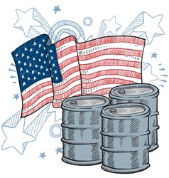 doodle americana oil vector image