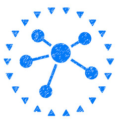 Dotted links diagram grunge icon vector