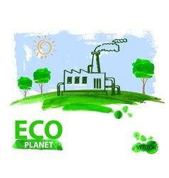 eco concept planet vector image vector image