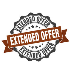 Extended offer stamp sign seal vector