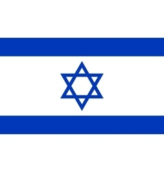 Flag of israel in correct proportions and colors vector