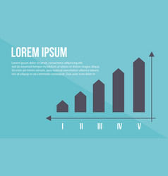 Graph business design style collection vector