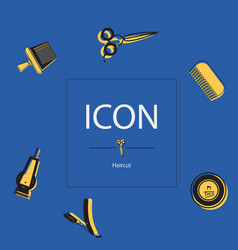 icon haircut vector image vector image
