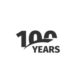 Isolated abstract black 100th anniversary logo on vector image