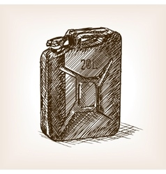 Jerrycan sketch style vector