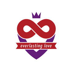 love forever conceptual sign symbol created with vector image vector image