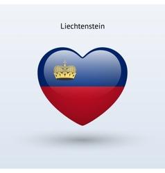 Love Liechtenstein symbol Heart flag icon vector image vector image